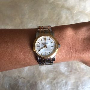 Burberry Heritage Two Tone Ladies Watch BU1359